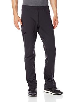 Mizuno Running Men's Essential Pant, Black/Charcoal, Large