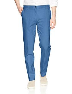 IZOD Men's Saltwater Flat Front Chino Pant, Federal Blue, 36