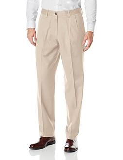 Dockers Men's Signature Khaki Classic-Fit Pleated Pant, Clou