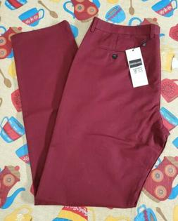 INFLATION SIZE 36 X 36 Men's Casual Pants Burgundy