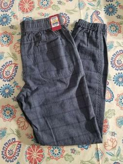 UNIONBAY Size Small Young Men's Plaid Jogger Pant Grey Goose