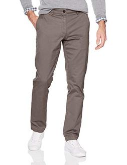 Goodthreads Men's Slim-Fit Washed Chino Pant, Grey, 28W x 29