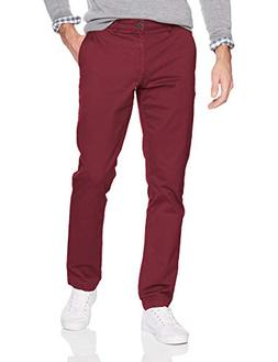 Goodthreads Men's Slim-Fit Washed Chino Pant, Burgundy, 42W