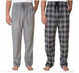 New Nautica Men's 2 Pack Soft Suede Fleece Pajama Pants Bott