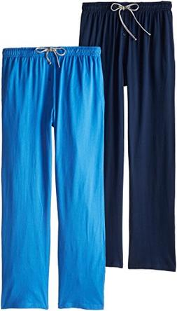 Hanes Men's Solid Knit Jersey Pajama Pant, Blue Beach/Bright