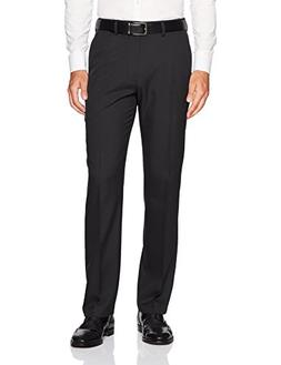 Haggar Men's Standards Solid Gabardine Superflex Waist Flat