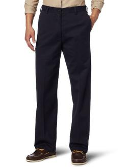 IZOD Straight Fit American Chino Flat Front Pants 32x32, Nav