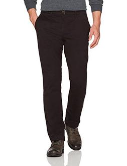 Goodthreads Men's Straight-Fit Washed Chino Pant, Black, 32W
