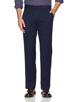 stretch classic fit flat front