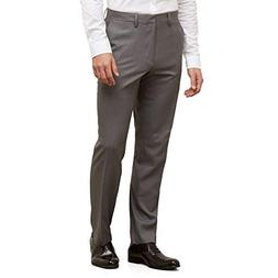 Kenneth Cole REACTION Men's Stretch Modern-Fit Flat-Front Pa