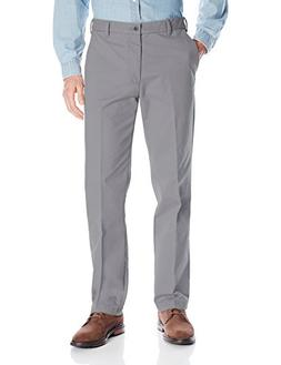 IZOD Men's Performance Stretch Straight Fit Flat Front Chino