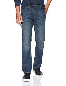 UNIONBAY Men's Stretch Straight Leg Denim Jean, Blue Moon, 3