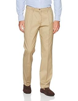 LEE Men's Total Freedom Stretch Relaxed Fit Pleated Front Pa