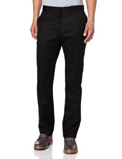 Lee Uniforms Men's Slim Straight Core Pant, Black, 34Wx34L