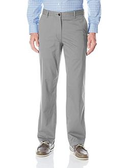 Dockers Men's Washed Khaki Straight-Fit Flat-Front Pant, Bur