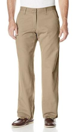 LEE Weekend Chino Straight Fit Flat Front DARK KHAKI Men's