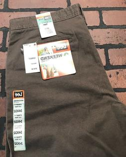 Lee Weekend Chino Straight Fit Flat Front Walnut Men's Pants