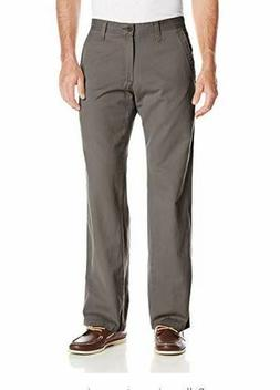 Lee Men's Weekend Chino Straight Fit Flat Front Pant, Ash, 3