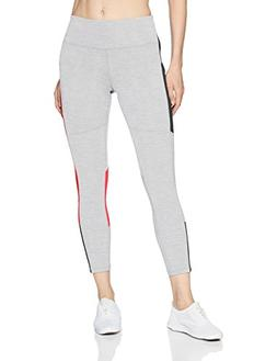 Champion Women's Fashion 7/8 Tight, Oxford Grey Heather/red