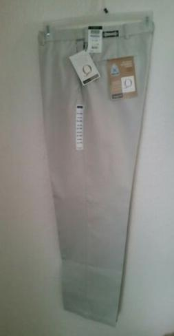 Haggar Work-to-Weekend Flat Front Pants 34W x 32L - Stone Be