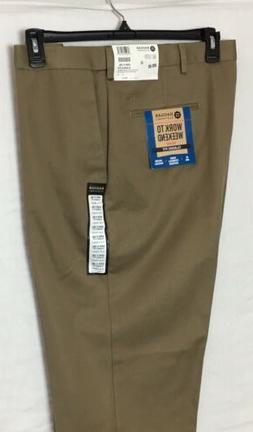 Haggar Work to Weekend Khaki Tan Pants Men's Size 42 X 29 St