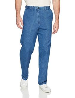 Haggar Men's Work To Weekend Expandable Waistband Plain Fron
